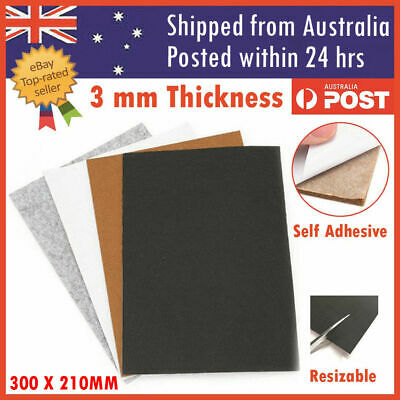 4PCS Felt Pad Sheet Furniture Floor Protector Pads Self Adhesive 3mm A4 Sheet