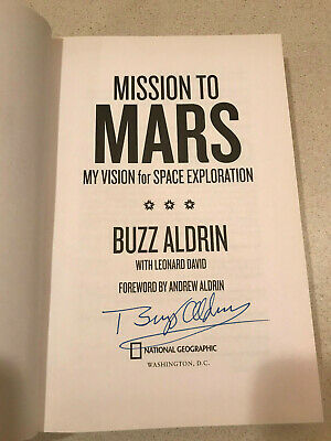 Buzz Aldrin signed Mission to Mars hardcover book