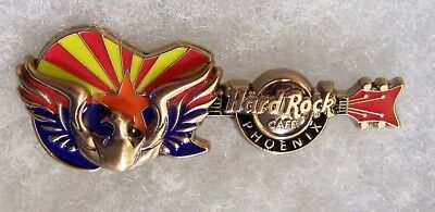 Hard Rock Cafe Phoenix 3D Rising Phoenix Bird On State Flag Guitar Pin # 96030