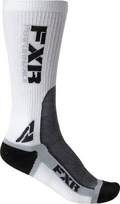 FXR Snowmobile TURBO WOMEN'S ATHLETIC RIDING SOCKS -3 PAIRS - White/Gray - NEW