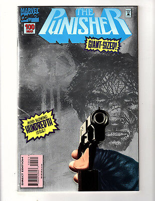 The Punisher #100 (1995, Marvel) FN Silver Foil Cover Giant-Sized Frank Teran