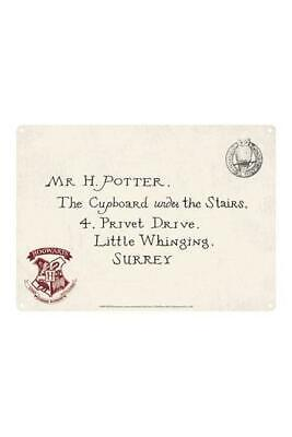 Harry Potter Tin Sign Hogwarts Letter