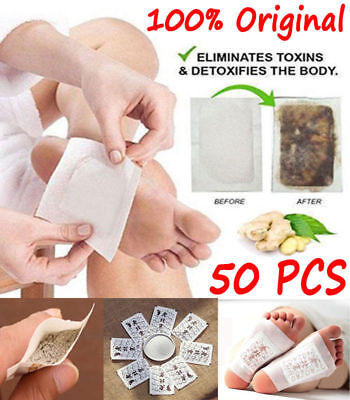 50X Best Detox Foot Pads Patch Detoxify Toxins Adhesive Keeping Fit Health Care