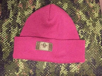 Canadian Forces Airborne Parachute Toque Winter Knit Cap Wool & Canadian Flag