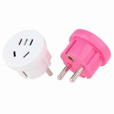 2x US AU To EU Plug USA AUS To Euro Europe Travel Wall Charger Adapter Converter