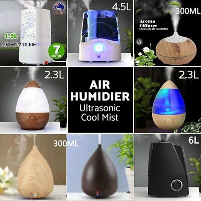 Aroma Aromatherapy Diffuser LED-Essential-Oil-Ultrasonic Air Humidifier Purifier