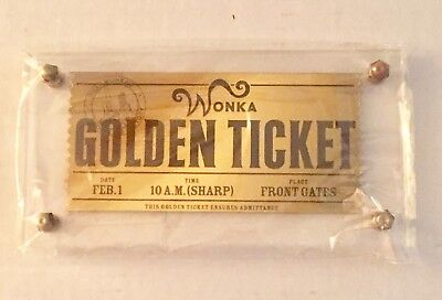 neca willy wonka golden ticket prop replica rare authentic