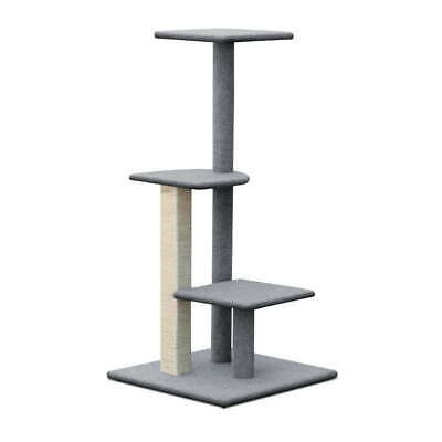 124cm Cat Tree Scratching Post Scratcher Pole Gym Toy House Furniture - Grey