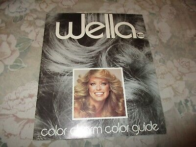 Wella color charm color guide - Farrah Fawcett cover - vintage hair fashion