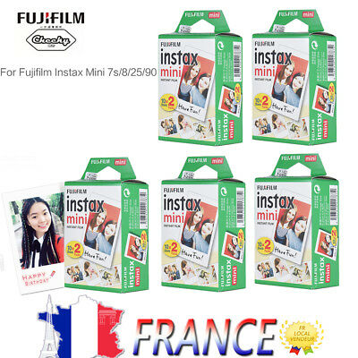 100PCS Fuji Instax Mini Film Photo pour Fujifilm Mini 7s/8/25/50/90/9/70 SP-1 FR