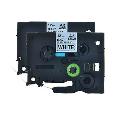 2PK TZe-FX231 TZ-FX231 Black on White Label Tape For Brother PT-1700 GL-100 ST-5