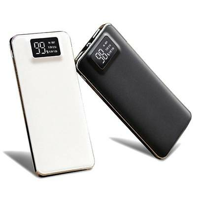 Portable 20000mAh LCD Power Bank External 2 USB Battery Charger For Cell Phone