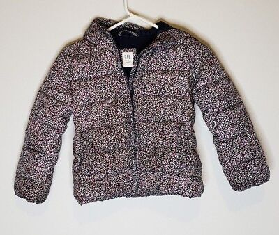 Gap Kids Primaloft Floral Puffer Coat Size Small