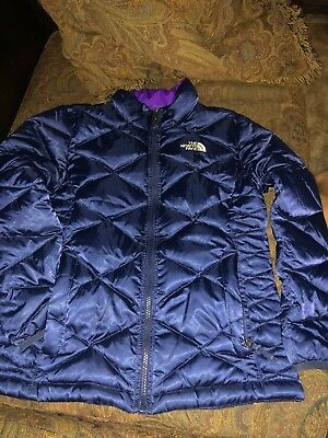 Girls Medium 10 12 The North Face Northface Puffer Jacket Coat EUC 550 Black