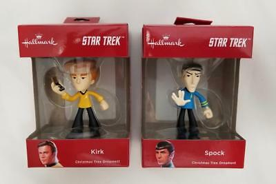 2018 Hallmark Star Trek Spock & Kirk LIMITED Red Box Christmas Tree Ornaments
