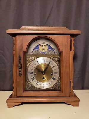 Emperor Westminster Franz Herme Chime Mantle Carriage Clock W/Moon Dial~WITH KEY