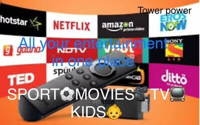 Amazon Fire Stick  Latest software FULL HD MOVIES ✔️LIVE SPORT✔️TV SHOWS✔️KIDS✔️