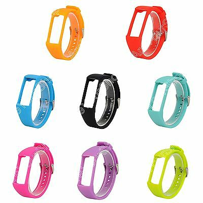 Silicone Watch Strap Wrist Band Sports Fitness Bracelet w/Buckle For Polar A360.