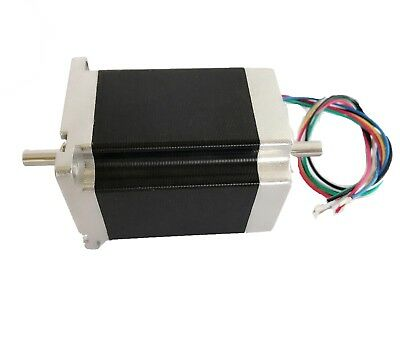 LONGS  Nema23 Stepper Motor 23HS8630B Dual Shaft 270oz-in 3.0A 76mm
