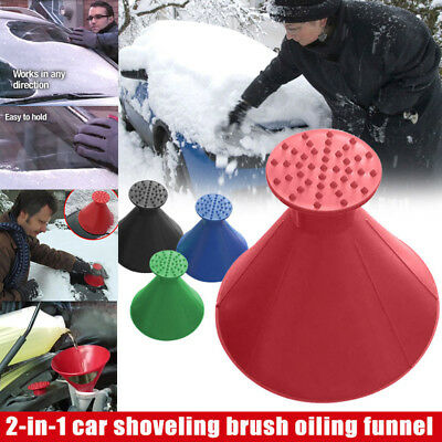 Car Windshield Magic Ice Scraper Cone Shaped Outdoor Funnel Remover Snow HTCM