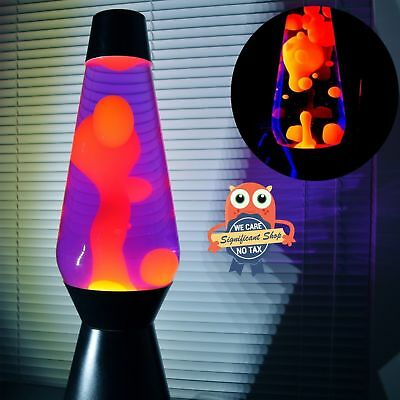 The Original Lava Lamp Motion Blue Liquid Orange Wax Night Light Relaxing Soft