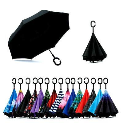 Spar. Saa Double Layer Inverted Umbrella with C-Shaped Handle, Anti-UV.