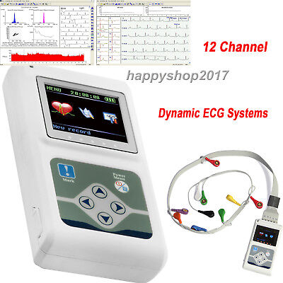 ECG Holter Monitor 12 Channel For ECG Heart 24 hours record analyzer Dynamic EKG