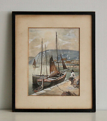 A Fine mid Century Maritime Watercolour, Bringing in the Catch