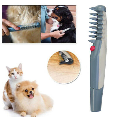Electric Pet Dog Cat Hair Trimmer Knot Out Remove Clippers Scissor Grooming Comb