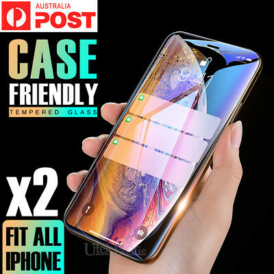 2X Apple iPhone X XR XS MAX 8 7 6 Plus 6S 5 Tempered Glass Screen Protector