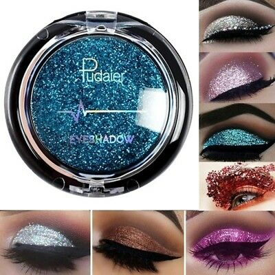 Pudaier Eyeshadow Shimmer Glitter Metallic Eye Shadow Diamond Makeup Palette