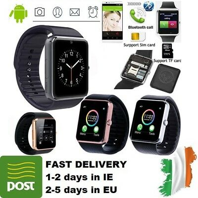 GT08 Smart WatchTouch Screen Phone SIM GSM Bluetooth Card Fitness NEW