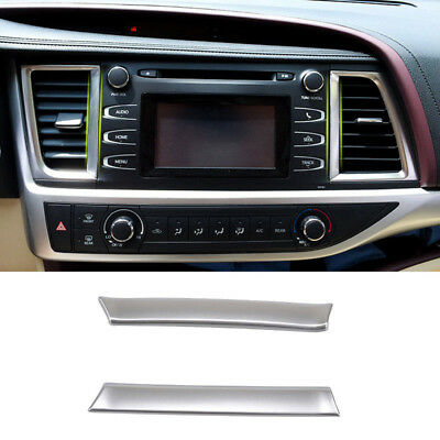 For Toyota Highlander 2014-2017 Chrome Front Dashboard Air Vent Cover Trim