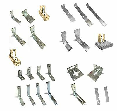 Metal Joist Anchor Angle Corner Bracket Galvanised All Sizes and Packs