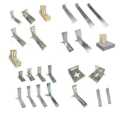 Metal Joist Anchor Angle Corner Bracket Zinc Plated All Sizes and Packs