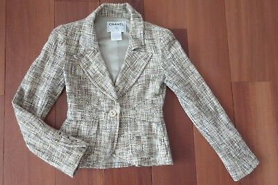 853645a7a472 VESTE CHANEL TWEED XS Taille 34 - bag jacket coat, 100% auth - EUR ...