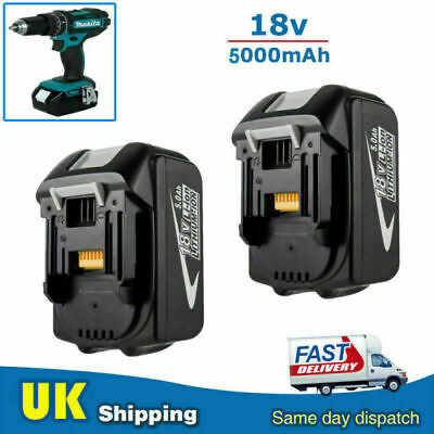 2x BL1850 FOR MAKITA 18V 5Ah LI-iON BATTERY BL1815 BL1840 BL1845 BL1860 LXT Tool