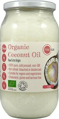 PINK SUN Organic Coconut Oil Raw Pure Extra Virgin Cold Pressed 500ml 1litre