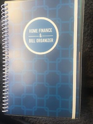 Bill Organizer & Home Finance Book Blue Squares Budget New Design! Xmas!!
