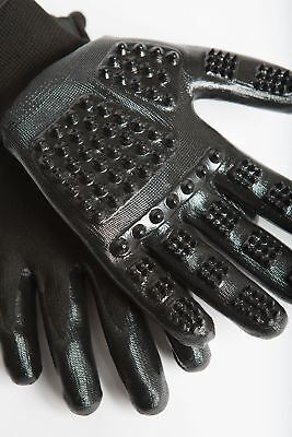 HandsOn Revolutionary Grooming/Bathing Gloves for Pets Black Size Small