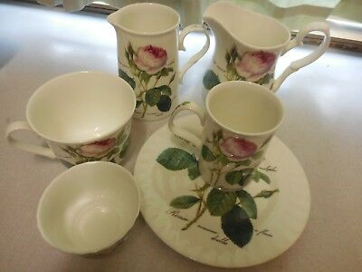 Roy Kirkham 'Redoubte Roses' Fine Bone China jugs, mugs, sugar bowl, plates