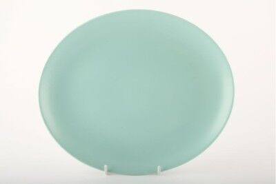 Poole - Seagull and Ice Green - C57 - Oval Plate / Platter - 145555G