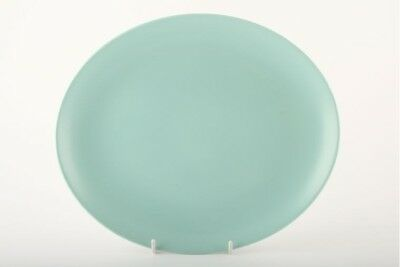 Poole - Seagull and Ice Green - C57 - Oval Plate / Platter - 145555Y
