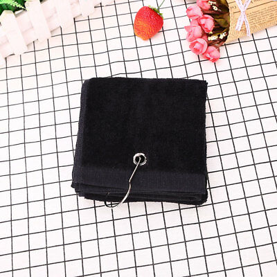 0656 40x60cm Tri-Fold Cotton Comfortable Golf Towel With Hook Hiking Muticolor