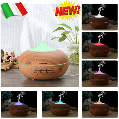 300ml Auto-Off Diffusore Aromi Umidificatore Aromaterapia 7 LED Lampada Color IT