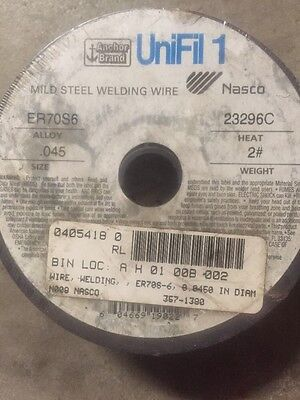 Anchor Brand UniFil Mild Steel .045 MIG Welding Wire ER70S-6  2 lb. Spool