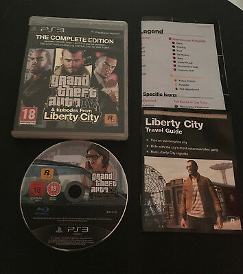 Grand Theft Auto IV 4 & Episodes of Liberty City MAP GTA PS3 Play Station 3 PAL