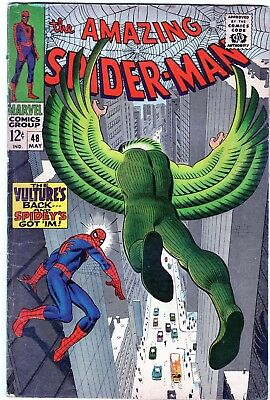 The Amazing Spider-Man #48 1st New Vulture! Silver Age Marvel Comics 1967