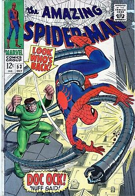 The Amazing Spider-Man #53 Doctor Octopus! Silver Age Marvel Comics 1967