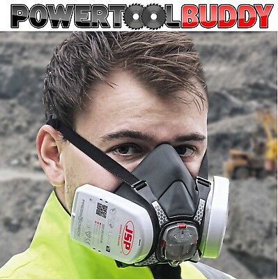 JSP Force 8 Mask Respirator Medium Press To Check P3 Dust Filters